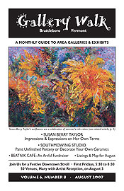 August '07 Gallery Walk Cover