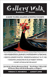 August '08 Gallery Walk Cover