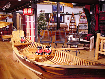 Boat in American Traders' Showroom