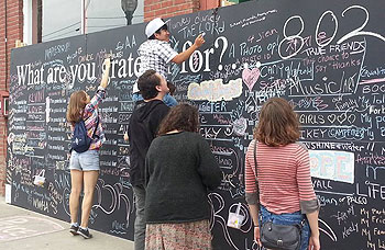Portion of Watching Angels' Gratitude wall