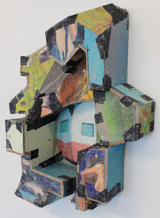 Recycled canvases by Carmelo Midili