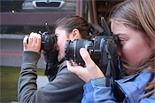 Photo of In-Sight kids with cameras