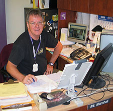 Bruce Marshall at his BAMS office desk