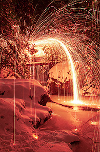Falls of Flames by Dave Mazor