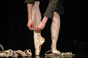 Jeff Lewis photo of ballet dancer's toe shoes
