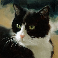 Cat's painting of Toby