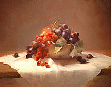 Grapes and Copper Bowl by Diane K. Rath