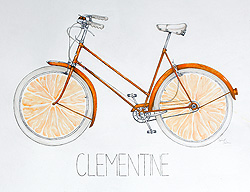 Clementine bicycle by Bechet Allen of Vermont Academy