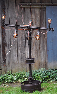 Vermont Farmer Art lamp