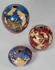 Burl vessels by Bob Chatelain
