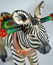 Detail of zebra by Carol Loeb