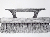 Paul Shore's drawing of a brush in his home