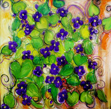 Violets by Janet Picard