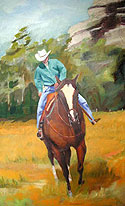 Rodeo Warmup by Kate Spencer