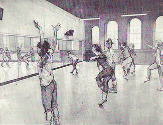 Dance Center drawing by Penelope Wurr