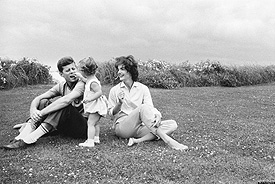 Jack and Jackie with Caroline on the grass